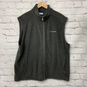 Columbia Mens Grey Zip Up Vest